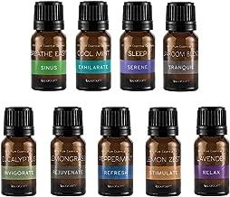SpaRoom 100% Pure Essential Oil Starter Kit, 10mL Amber Bottle, 9 Count