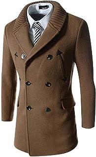Cappotto da Uomo Cappotto da Uomo Cappotto Caldo Stile Semplice Uomo Doppio Petto Rivetto Giacche A Maniche Lunghe Cappott...