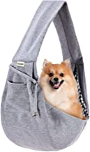 FDJASGY Small Pet Sling Carrier-Hands Free Reversible Pet Papoose Bag Tote Bag with a Pocket Safety Belt Dog Cat for Outdo...