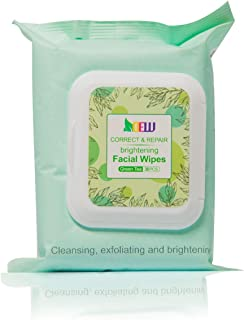 Dew Green Tea Face Wipes Deep Cleaning 30ct, Detoxifying, Soothes & Calms the skin, Exfoliating Facial Wipe, Daily Cleansi...
