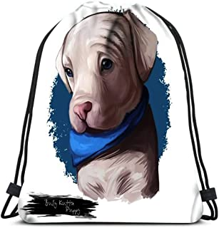 Drawstring Backpack Bully Kutta Puppy Dog Breed Strong Aggressive Indian Pakistani Alangu Type Muscular Mammal For School Or Travel