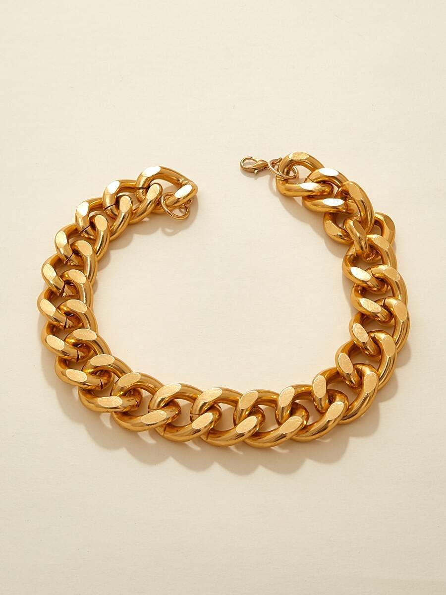 ZHCHL Necklace Pendant 1pc Thick Chain Choker (Color : Gold, Siz