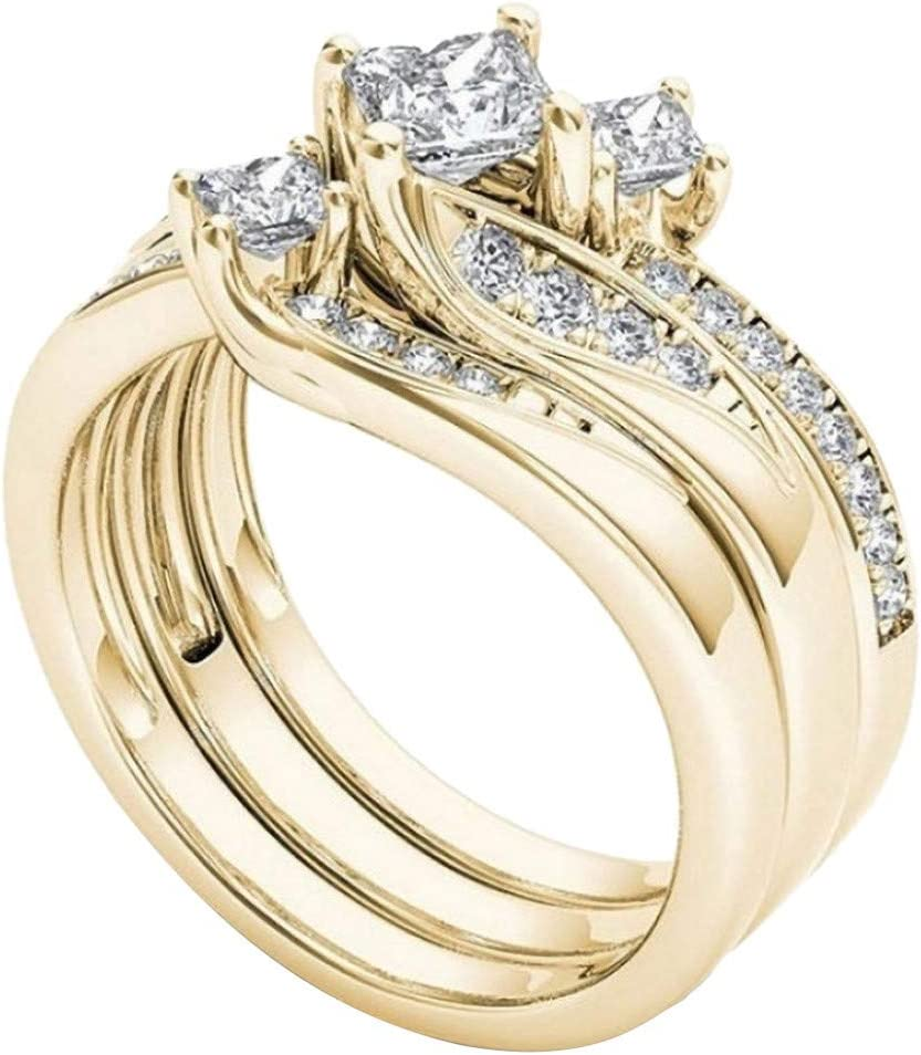 wholesale Tronet Engagement Rings for Women Rose Popularity Natural Ring Gold Diamond