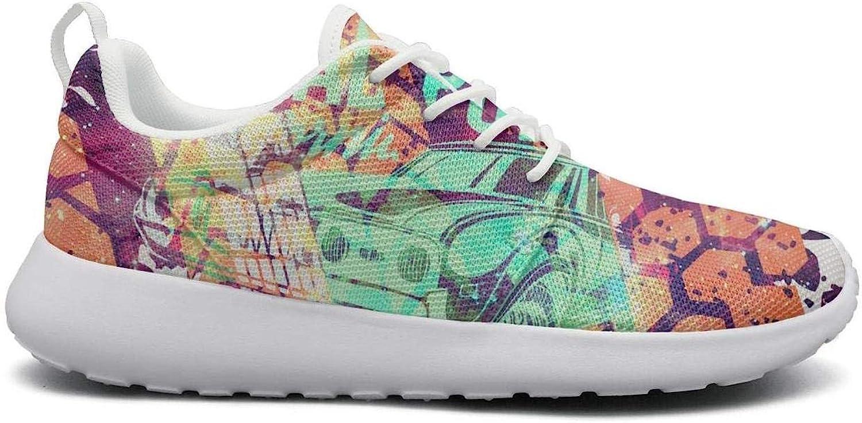 Ipdterty Wear-Resistant Sports Sneaker Race car Flags Lane Star Sky Women's Cool Athletic Running shoes