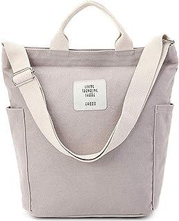 Women Canvas Tote Purse Handbags Crossbody Shoulder Bag Casual Work School Shopper Hobo Top Handle Handbag