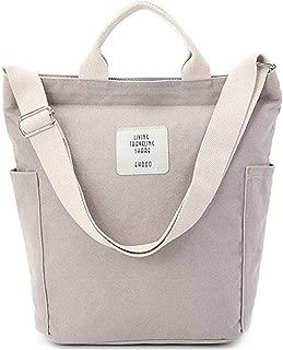 Women Canvas Tote Purse Handbags Casual Shoulder Work Bag Crossbody School Handbag