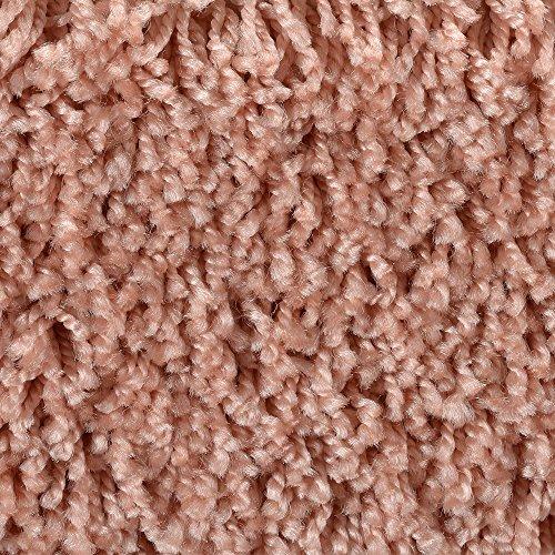 Teppichboden Auslegware Meterware Hochflor Shaggy Langflor Velour rosa orange 400 und 500 cm breit, verschiedene Längen
