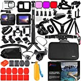 Husiway Accessories Kit for Gopro Hero 10 9 Black Waterproof Housing Silicone Case Glass Screen Protector Bundle Compatible with Gopro10 Gopro9 Hero10 Hero9 Action Camera 62E