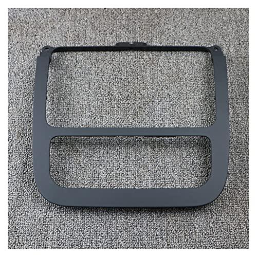 Qinndhto Ajuste para VW Golf MK5 MK6 Jetta MK5 1K0858069 CD Black CD Panel Aire Acondicionado Plano de Aire Acondicionado Dash Radio Frame (Color Name : Radio Trim Frame)
