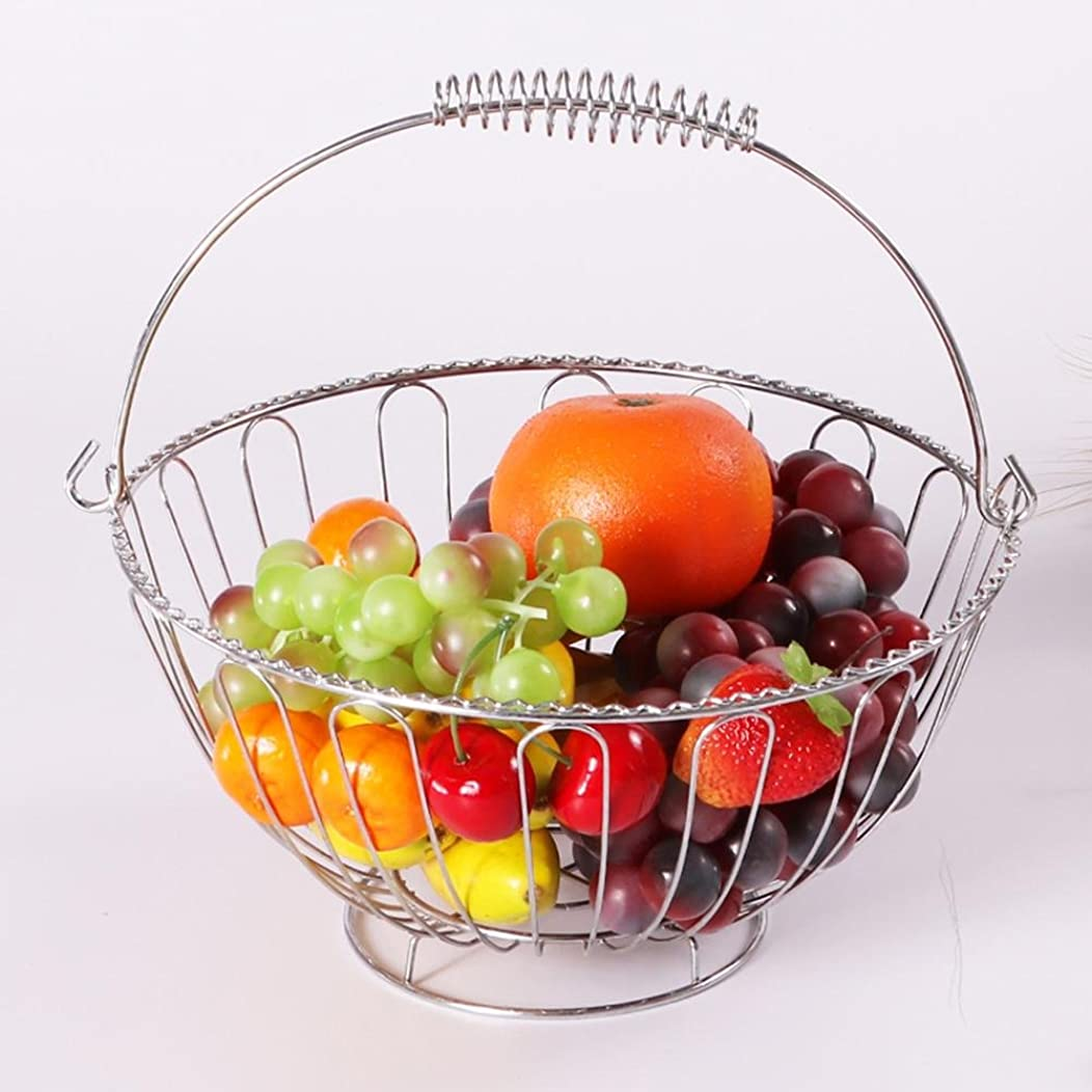YANXH Round Wire Fruit Bowl