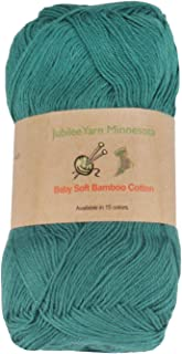 Baby Soft Bamboo Cotton Yarn - JubileeYarn - Frozen Tidepool - 4 Skeins