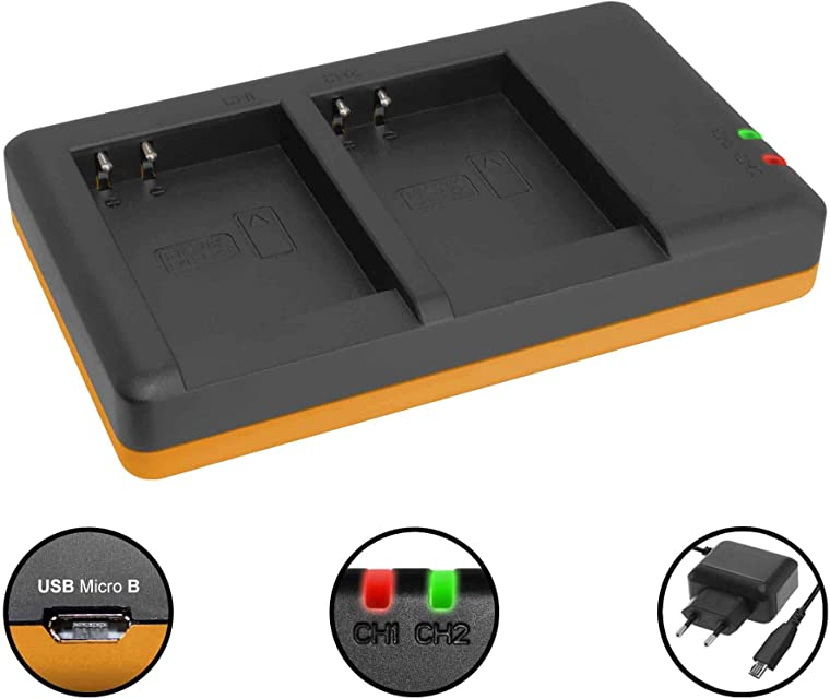 Cargador Doble (Corriente USB) para EN-EL23 / Nikon Coolpix B700 P600 P610 P900 S810c / Fuente de alimentación Incluido
