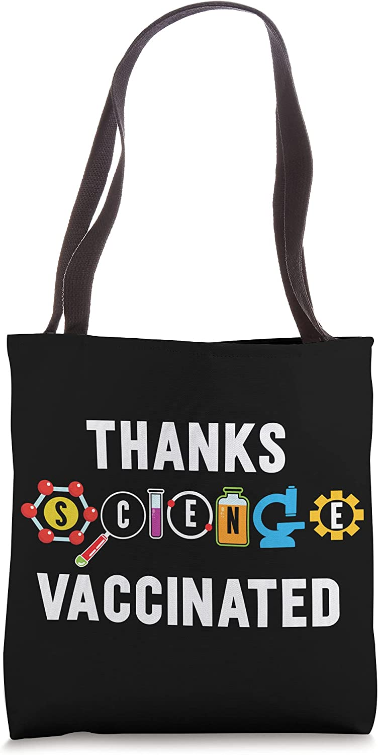 Thanks Max 60% OFF Science Vaccinated for a Max 52% OFF Pro Vaccination Vaccine Fan Tote
