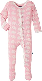 Kickee Pants Baby Girls' Essentials Print Ruffle Footie Prd-kprf908-ele