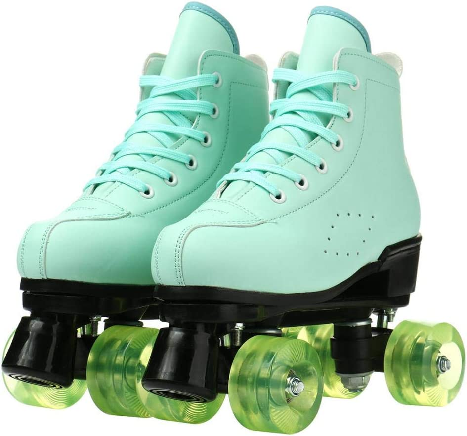 YYW Women Teen Roller Skates Purchase Classic Leather PU Cheap bargain High-Top