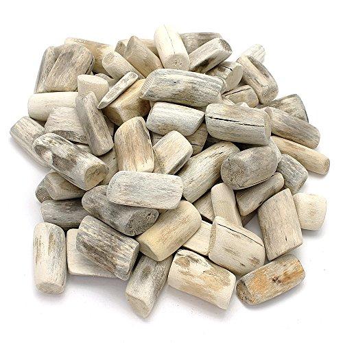 *TGG Treibholz rund Tumblet Wood, Natur gebürstet, L3-7cm, 1kg Beutel*