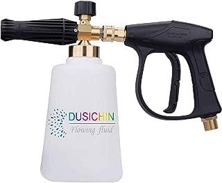 DUSICHIN DUS-009 Pressure Washer Jet Wash Quick Release Adjustable Snow Foam Lance Foam Cannon 2L Bottle 3000 PSI High Pressure Washer Gun