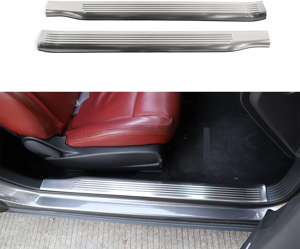 Sales of SALE items from new works Hycar Stainless Max 70% OFF Steel Car Silver Door Sill Plate Scuff
