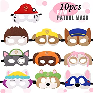 Paw Dog Patrol Toys Puppy Party Masks Birthday Cosplay Character Party Favors Supplies for Kids (Set of 10)
