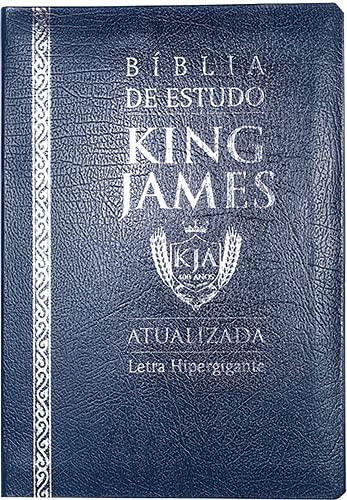 Bíblia de Estudo King James (Atualizada) - Letra Hipergigante (Azul)