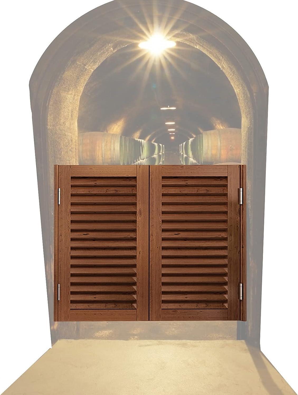 CAIJUN Puerta De Madera del Salón Cierre Automático Bar Entrada Talle Puerta Batiente para Cafetería Taberna, Mostrador Partición De Decoración Valla, Personalizable (Color : B, Size : 130x90cm)