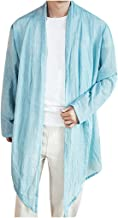 Linen Shirts for Men Kimono Big and Tall Cardigan Long Sleeve Loose Retro Lightweight Tops Blouse
