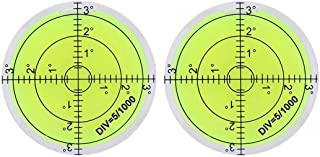 2PCS Bubble Level Bubble Spirit Levels 66x10mm Circular Bullseye Bubble for Leveling Camera Tripod Phonograph Furniture Me...