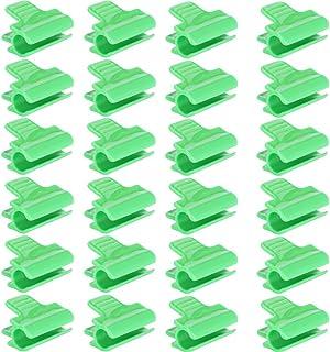 Tabpole Lot de 100 pinces de fixation pour filet de serre clips en plastique accessoires pour serre