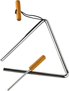 Sponsored Ad - Triangle Hand Percussion with Striker,Rhythm Steel Triangles Music Instrument (8 inch)