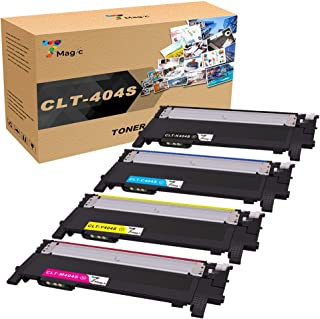 7Magic Compatible Toner Cartridge Replacement for Samsung CLT-K404S CLT-C404S CLT-M404S CLT-Y404S Xpress C430W C430FW C480FW SL-C430W SL-C480W SL-C480FN (Black, Cyan, Yellow, Magenta, 4-Pack)