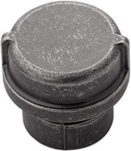 Hickory Hardware HH075028-BNV Pipeline Collection Knob, 1-1/4 Inch Diameter, Black Nickel Vibed
