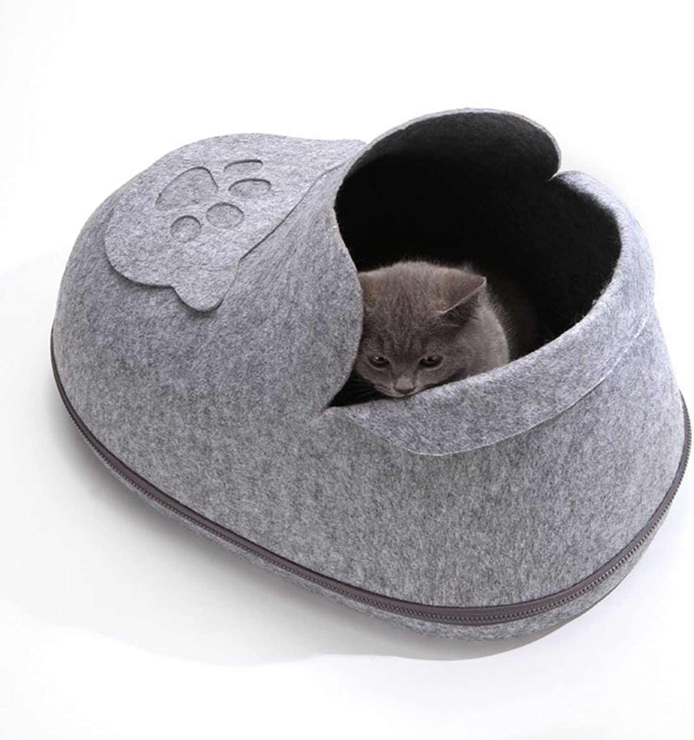 Pet Nest, Cat Nest Princess Nest, Puppy Nest, Portable Washable shoes Pet Nest, Warm Pet Mat (44X33x34) Cm