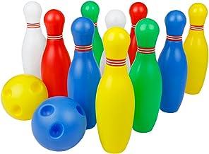Juegos de Bolos Exterior Interior Juego de 12 Pcs Las Pinos de Bolos para los Niños Sobre 3 Años.