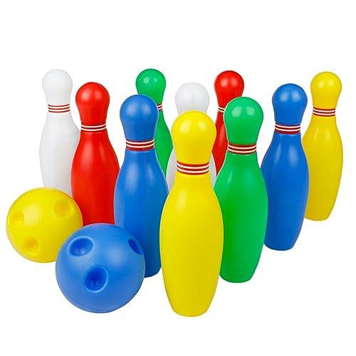 Jeux de Quilles Bowling Enfant Jeu En Plein Air Jeux Exterieur Jouet Cadeau Garcon Fille 3 ans Et Plus