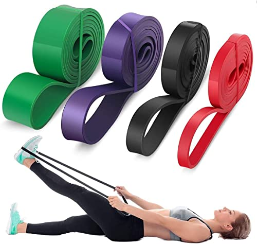 LEEKEY Resistance Band Set, Pull Up Assist Bands - Stretch Resistance Band - Mobility Band Powerlifting Bands For Res...
