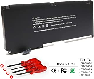 LQM New Laptop Battery for Apple A1331 A1342 13.3 Inch MacBook Unibody (for MacBook Late 2009 Mid 2010) MacBook Air MC234LL/A MC233LL/A, fit: 661-5391 020-6580-A