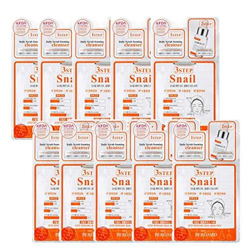 3Step Bergamo Mask Pack - Snail 10pcs