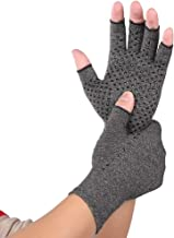 MIS1950s Arthritis Gloves(2pc) - Men Women Compression Hand Glove for Osteoarthritis and Rheumatoid Rehabilitation Training - Arthritic Joint Pain Relief - Carpal Tunnel Wrist Support - Open Finger