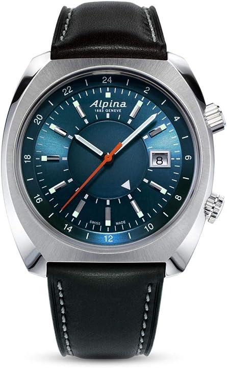 Orologio - alpina geneve startimer pilot heritage automatic gmt al-555n4h6 orologio automatico uomo