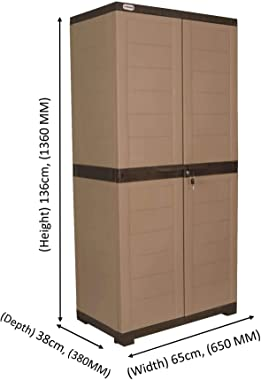 Alfa 2 Plastic Cabinet for Storage | Space Organizer | Shelves | Cupboard | Living Room | Kids | Multipurpose for Home Kitche