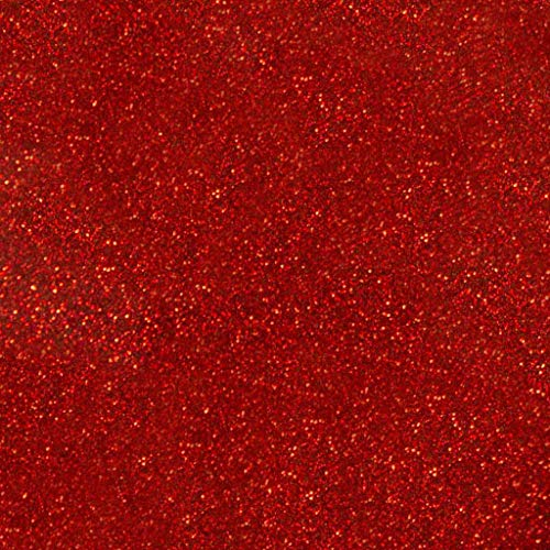 Siser Glitter HTV 20 x 12 Sheet - Iron on Heat Transfer Vinyl (Red)