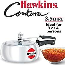 Hawkins Contura Aluminium Pressure Cooker, 3.5 Litres, Silver