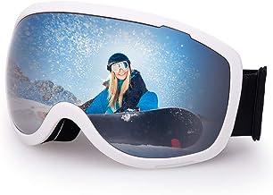 Avoalre Skibril snowboardbril voor dames en heren - skibril snowboardbril voor brildragers veiligheidsbrillen, 100% OTG an...
