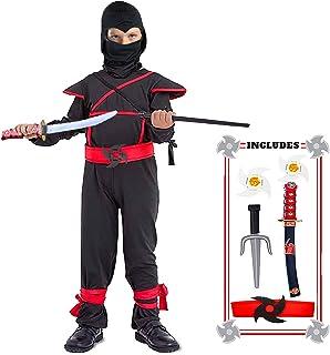 Kids Ninja Costume with Halloween Ninja Accessories Boys Dress up Best Gifts