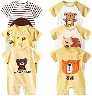 Body de manga corta para bebé, paquete de 6 unidades, de manga corta para niños pequeños