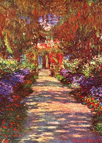 1art1 Claude Monet - Eine Allee In Giverny, Gartenweg, 1902 Poster Kunstdruck 70 x 50 cm