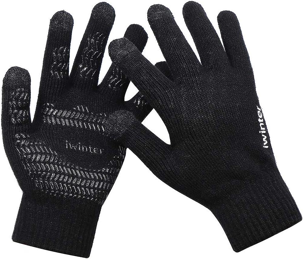 Wandern Klettern Radfahren Fahren Alupper Winter Handschuhe Winddicht Thermische F/ür M/änner Frauen Ideal f/ür Sport Im Freien Laufen