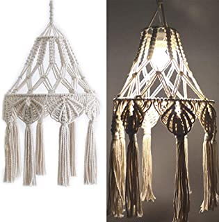 White Lamp Shade Ceiling Pendant Light Shade Tasseled Chandelier Bohemian Wedding Hanging Pendant Boho Bohemian Bohemian S...