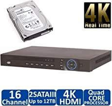 2TB HDD Installed, NVR4216-4KS2 16 Channel Security Network Video Recorder Onvif 4k IP Camera NVR P2P
