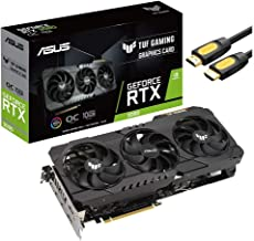 ASUS TUF Gaming NVIDIA GeForce RTX 3080 OC Edition Graphics Card, 10GB GDDR6X, PCIe 4.0, HDMI 2.1, DisplayPort 1.4a, Dual ...